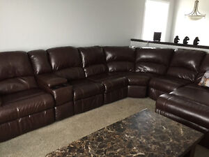 Ashley 7 Piece Leather Sectional