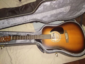 Art and Lutherie Cedar Acoustic Guitar (with case)