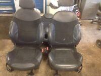 Mini half leather seats