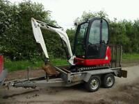 JCB 8018 Mini Digger 1.8 Ton Excavator