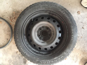 4 General Tire Altimax Artic 12 Tires (winter tires) with rims