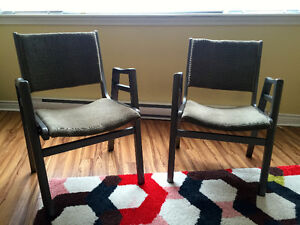 Stackable Kitchen Chairs (2)