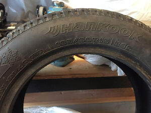 185/60R15 Hankook Winter Tires - Studded