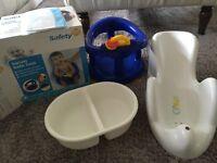 Baby bath seat / bathing 3 piece set