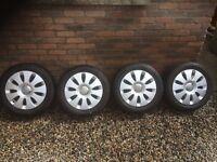 Like new Bridgestone tyres. 5.5mm deep