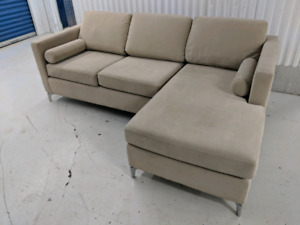 Contemporary Designer Sectional L-Shape Sofa w Chaise Lounge
