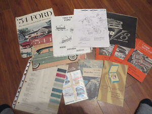 1954 Ford Collection of Rare Brochures--Booklets