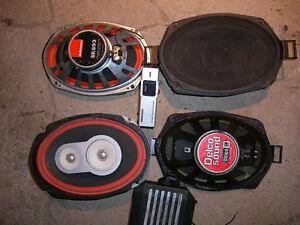 Vintage Sparkomatic and GM Delco Sound Speakers and Booster