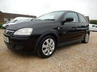2004 04 VAUXHALL CORSA 1.2 SXI 16V 75 BHP 3 DOOR HATCHBACK ONLY 62551 MILES BLAC