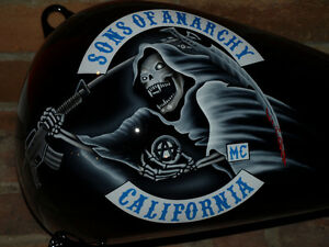 97-99 HARLEY DAVIDSON SONS OF ANARCHY CLAY'S TANK 2.5 GAL