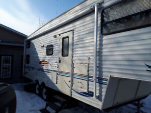 jayco eagle 32ft fifth wheel trailer with 16k hitch