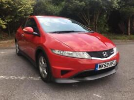 2009 HONDA CIVIC TYPE S 1.4 PETROL MILANO RED ONLY 69,000 MILES