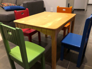 Cafe Kid solid wood kid's table and chairs