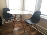 Black & white table and chairs dining table 2 chairs Eiffel modern