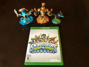 SKYLANDERS SWAP FORCE GAME FOR XBOX ONE AND 3 FIGURES