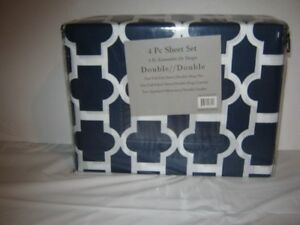 4 pc sheet set. double size. brand new still in package. firm