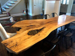 Custom Handcrafted Furniture Live Edge Table High End Tables