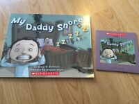 My daddy snores book with CD