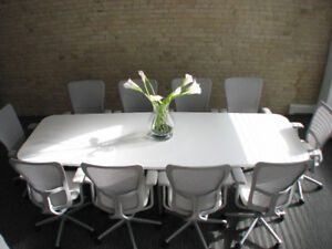 Furnished Office Space w/boardroom- 1 block from Portage & Main