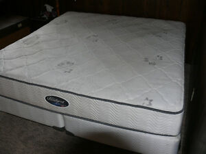 Beautyrest Classic Elite (king) mattress, frame and boxspring.
