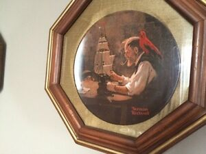 Norman Rockwell plates in frames Stratford Kitchener Area image 4