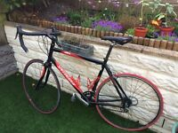 Specialized Allez racing / road bike XL red and black