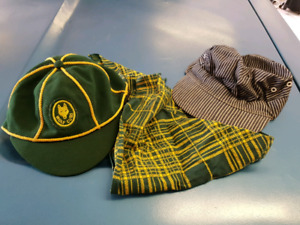 Kids Wolf Cub Hat and scarf  and train Engineer hat