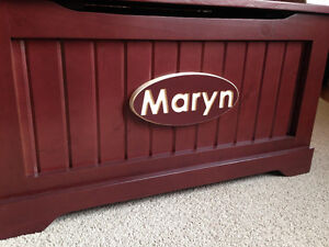 Handmade Solid Wood Engraved Toy Chests- SHOP LOCAL THIS YEAR London Ontario image 1