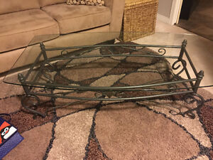 Glass and metal coffee table - perfect condition London Ontario image 1