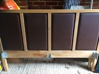 Faux leather headstead bed