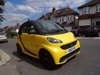 Smart Fortwo cityflame edition+factory yellow/black+satnav+leather+low mileage 30k