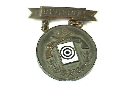 U.S. ARMY DIVISION Pistol Shooting Medal 1903-1906 - Identified 17th Infantry