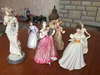 6 Royal Doulton figurines in lovely condition.