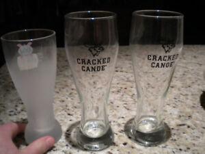 12 cracked canoe Half pint glasses