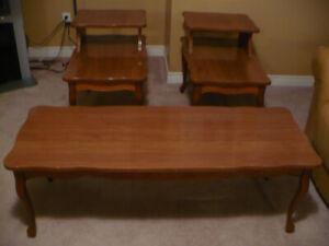 Antique 3 piece coffee table set