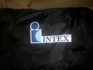travelling double air mattress auto-inflate like new