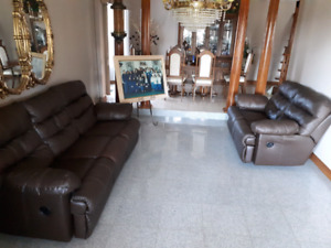 Leather Couch & Loveseat (All seats are Recliners)