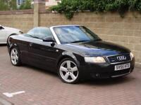 FINANACE AVILABLE! 2005 AUDI A4 CABRIOLET 1.8 T S LINE QUATTRO 2dr 6 SPEED,