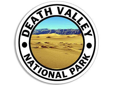 4X4 Inch Round Death Valley National Park Sticker   Desert Decal Travel Ca Rv Go