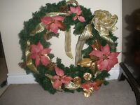 Huge Holiday Door Wreaths