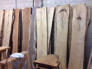 LIVE EDGE WOOD SLABS (Salvaged/kiln dried/surfaced)