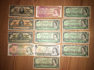 Old Canadian bill Lot
