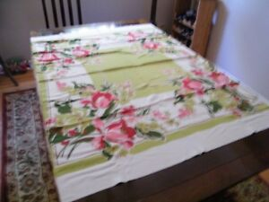 ON HOLD old linen tablecloth