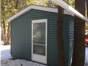 Large Bunkie/ Shed, Wood With Vinyl Siding