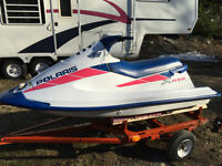 Polaris 650 totally overhauled with trailer
