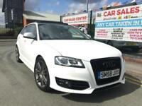 AUDI S3 2.0 TFSI SPORTBACK 5DR 2009 QUATTRO *PAN ROOF *10 S/STAMPS *BLACK/PACK