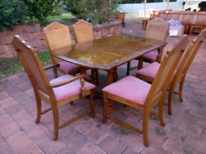 French Cane (Universal Furniture) Dining Set (Imported) Rosemeadow Campbelltown Area Preview