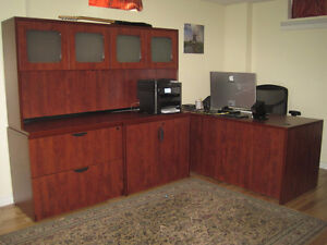 Office desk, File Cabinets and Credenza