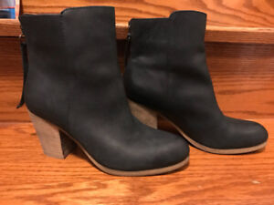 Denim and supply black leather boots size 7