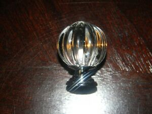NEW 10 Pumpkin Shape Glass Knobs for Drawer,Dresser(with screws London Ontario image 2